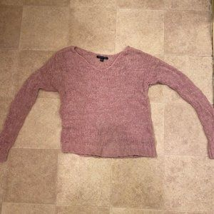 Pink Knitted Sweater - American Eagle Outfitters